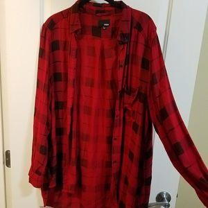 Wilfred Tops - 2/25 Wilfred long plaid shirt
